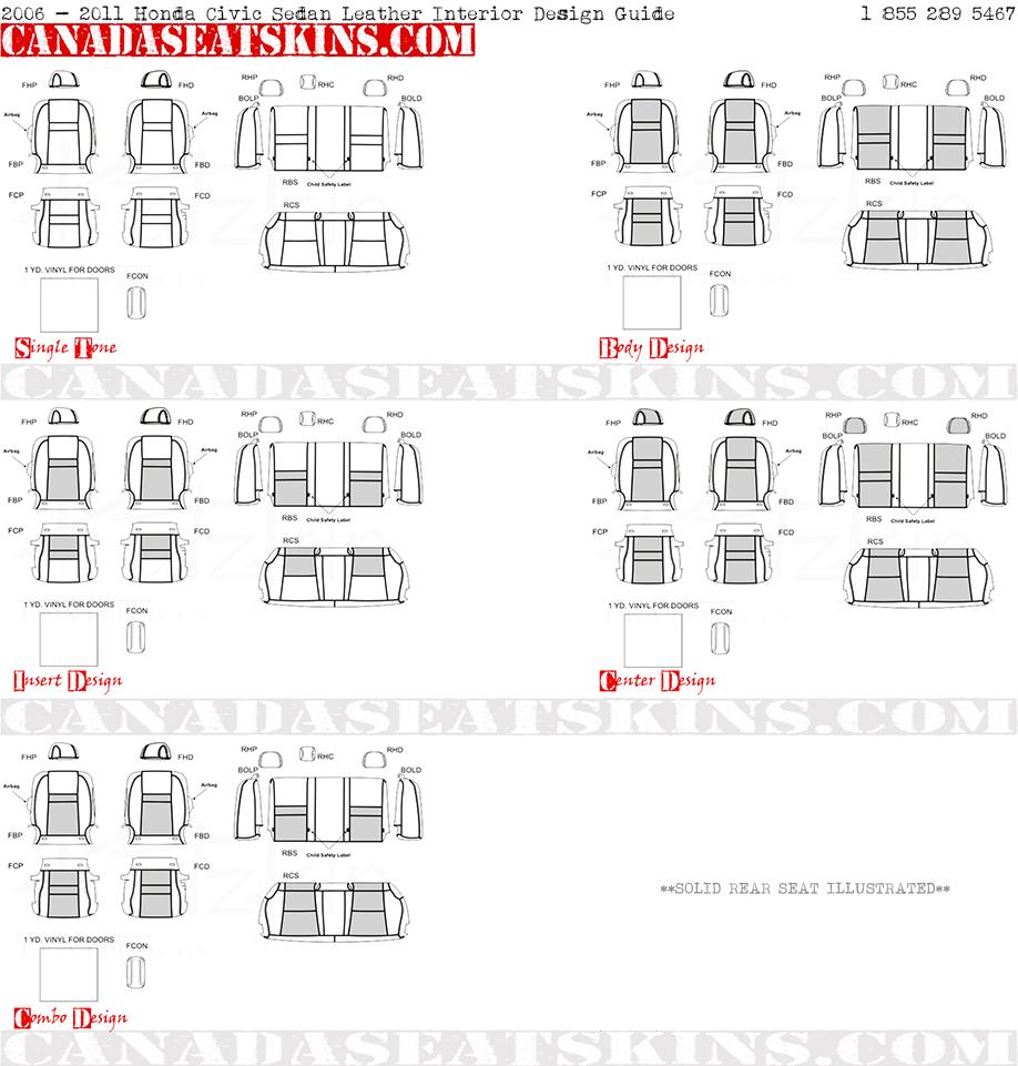 2006 2011 Honda Civic Sedan Leather Upholstery Wiring Diagram Interior Design