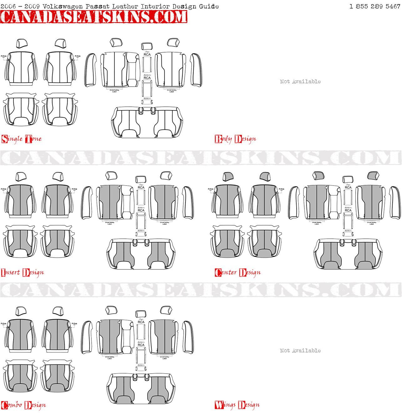 2006 2009 Volkswagen Passat Custom Leather Upholstery