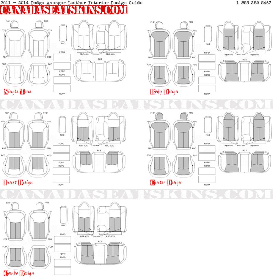 2011 2014 dodge avenger leather upholstery for Interior design guide