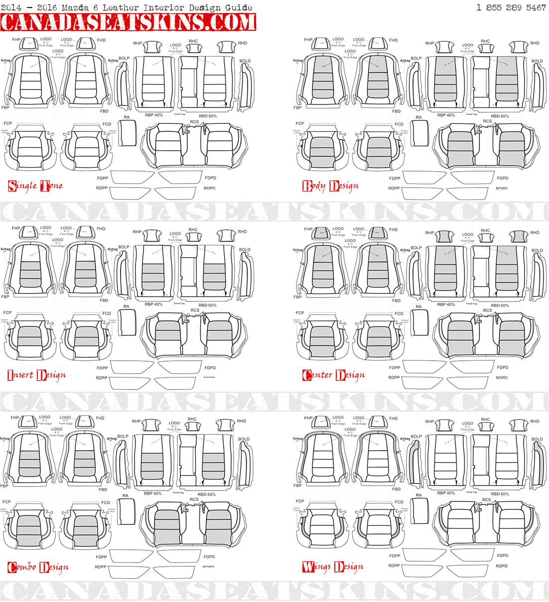 2016 2017 mazda 6 dealer pak leather upholstery kit for Interior design guide