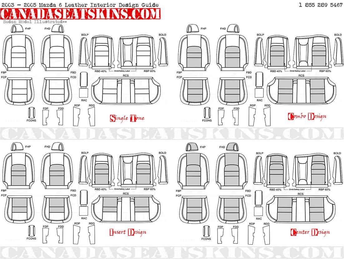 2003 2005 mazda 6 custom leather upholstery for Interior design guide