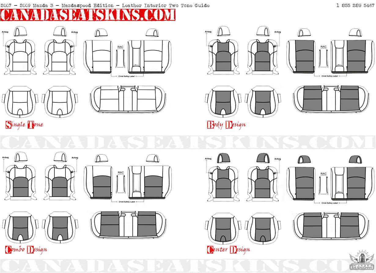 2007 2009 mazdaspeed 3 custom leather upholstery for Interior design guide