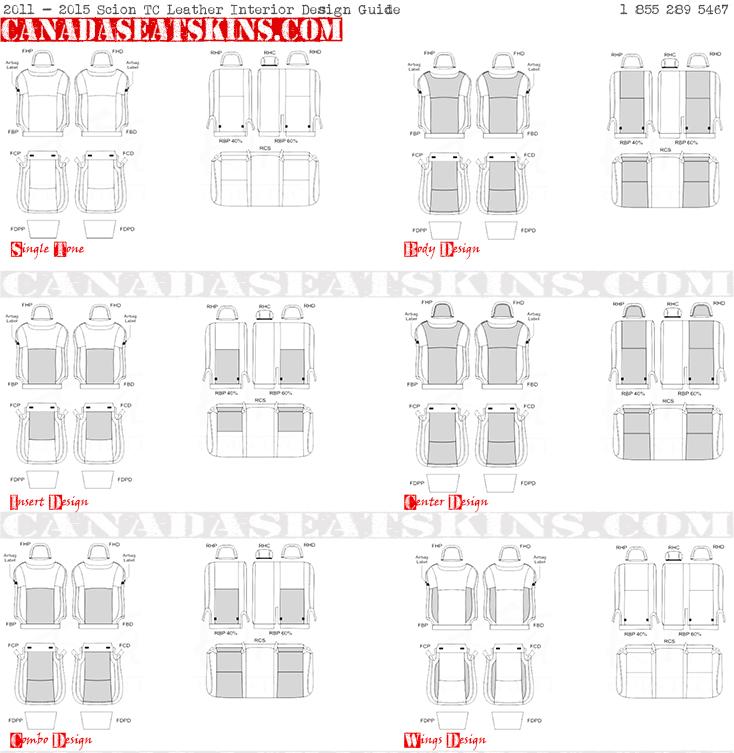 2011 2016 Scion Tc Dealer Pak Leather Upholstery Kit
