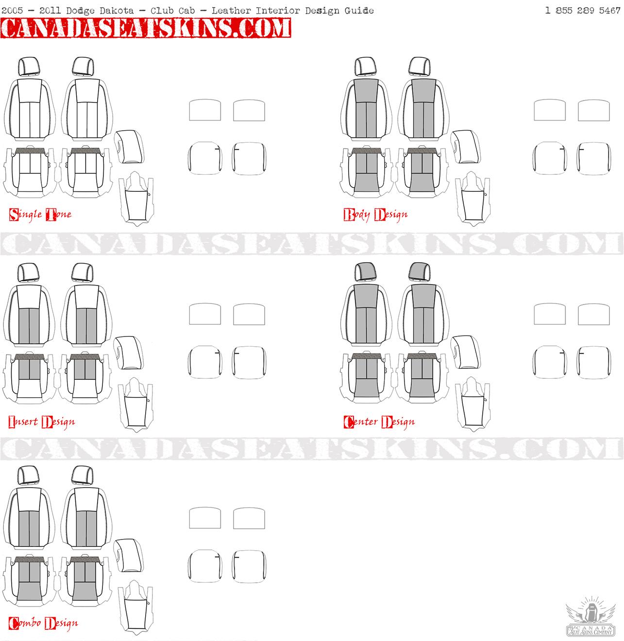 Club Cab Vs Quad Cab >> 1999 - 2011 Dodge Dakota Leather Upholstery