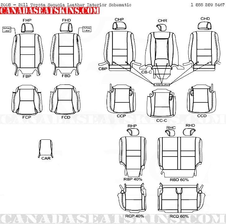 2005 2014 Toyota Sequoia Dealer Pak Leather Upholstery Kits