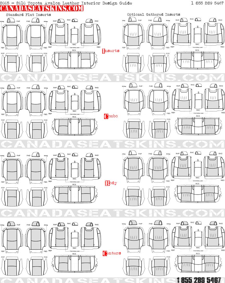 2000 2010 Toyota Avalon Leather Upholstery