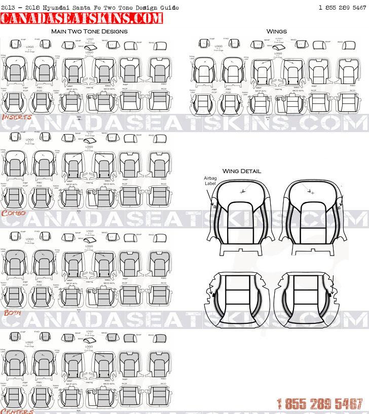 2013 2017 hyundai santa fe leather upholstery for Interior design guide