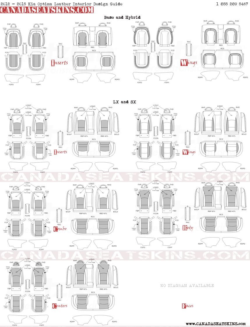 2012 2016 Kia Optima Hybrid Custom Leather Upholstery