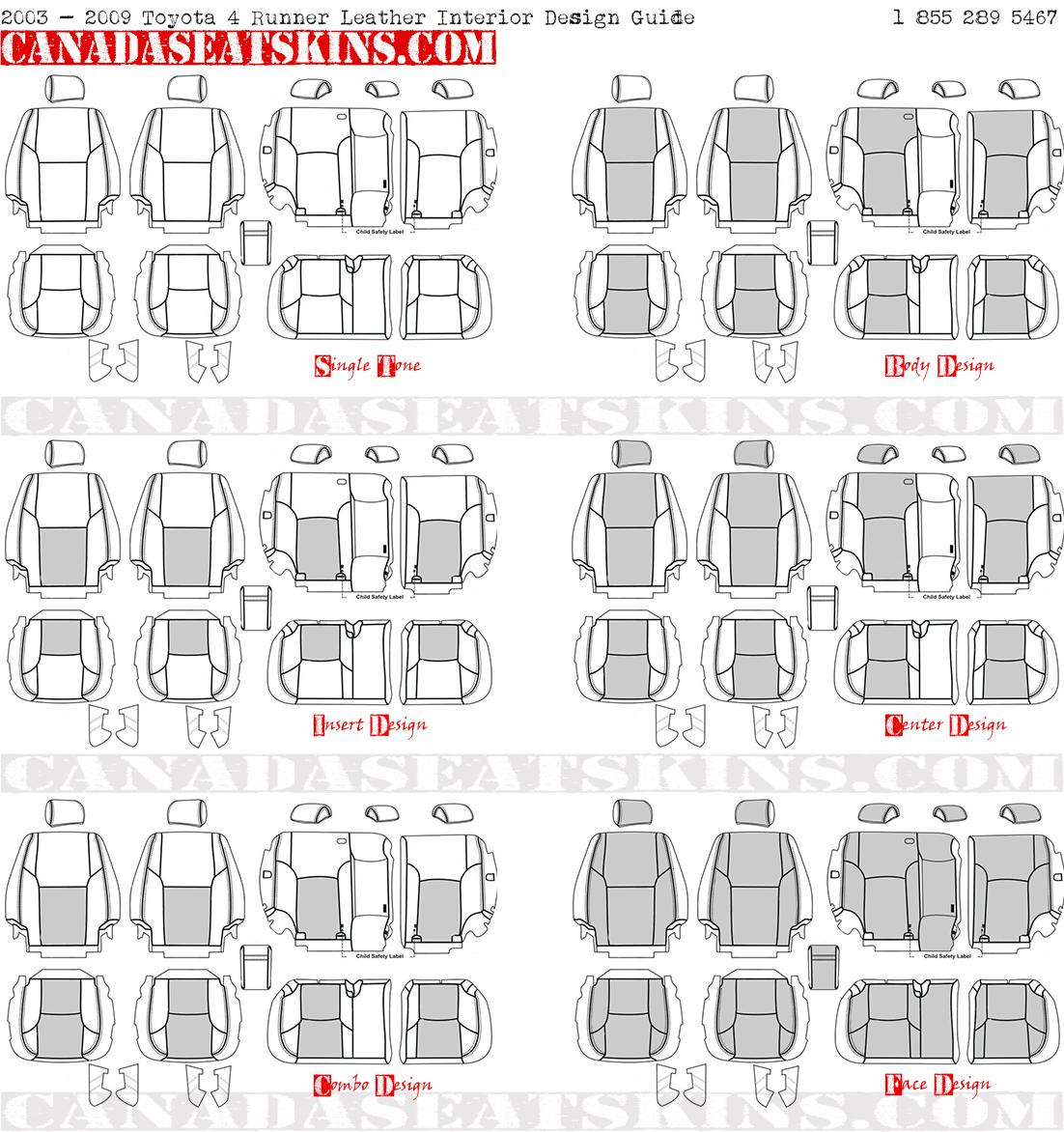 2003 2009 Toyota 4runner Custom Katzkin Leather Upholstery