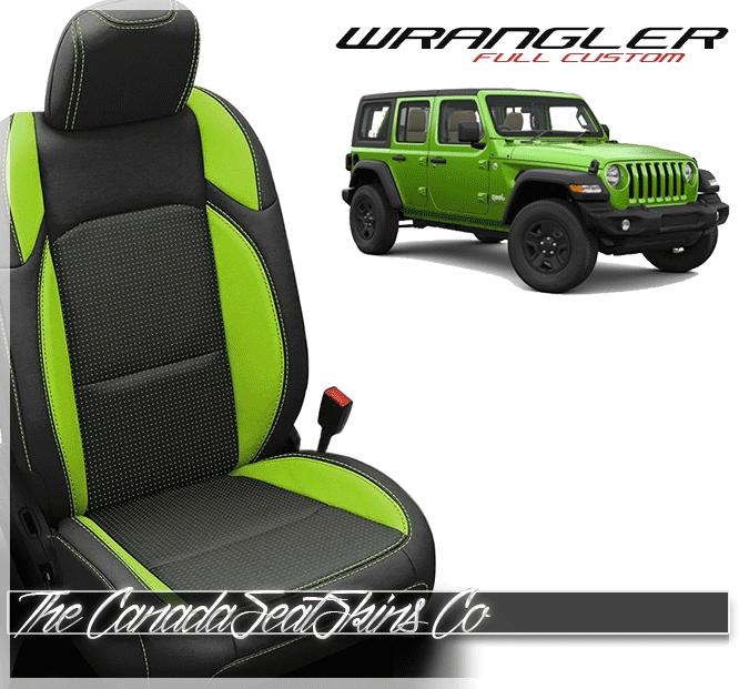 Jeep Wrangler Seats >> 2018 2020 Jeep Wrangler Custom Leather Upholstery