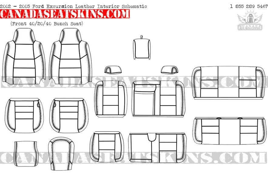 2000 - 2005 Ford Excursion Leather UpholsteryThe Canada Seat Skins Company