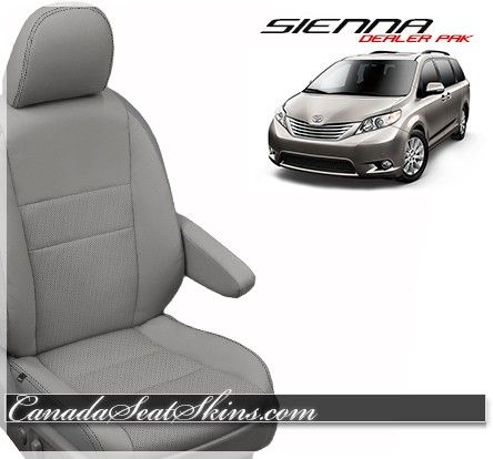 Toyota Sienna Seat Covers >> 2015 2017 Toyota Sienna Dealer Pak Leather Kits