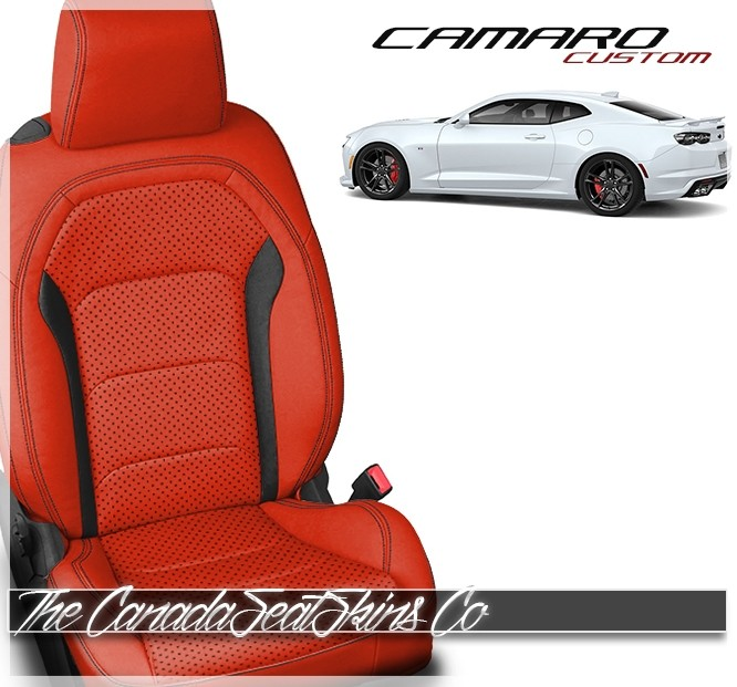 CHEVY CAMARO 2016 BLACK//YELLOW VINYL CUSTOM MADE FIT FRONT SEATCOVERS