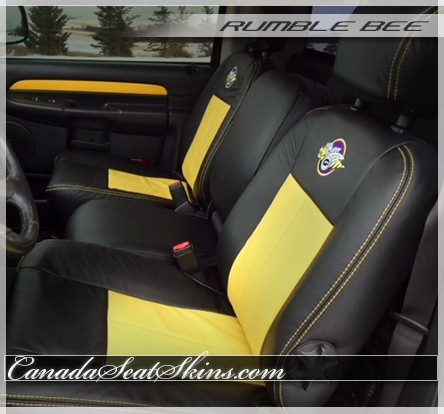 2004 - 2005 Dodge Ram Rumble Bee Leather UpholsteryThe Canada Seat Skins Company