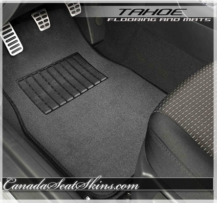 801-Black Plush Cut Pile Passenger Area 1995 to 1999 Chevrolet Tahoe Carpet Custom Molded Replacement Kit 2 Door With Heat Vents