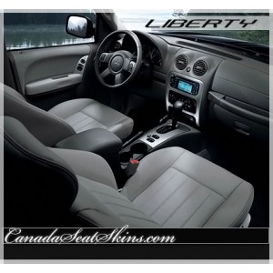 Jeep Patriot Black and Red Leather Seats