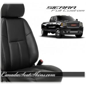 2007 - 2013 GMC Sierra Black Leather Seats
