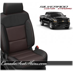 2014 - 2015 Silverado Lt Grey and Black Custom Leather Seats