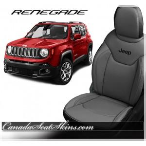 2014 - 2015 Jeep Cherokee Custom Black Leather Seats