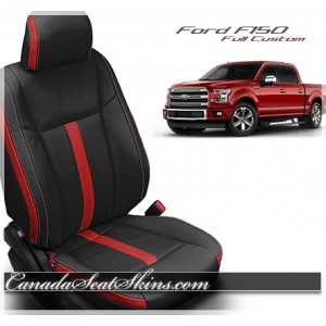 2015 F150 Black Red Leather Seats