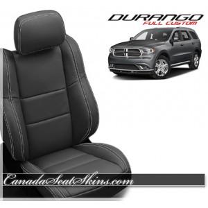 2011 - 2015 Dodge Durango Black Leather Seats