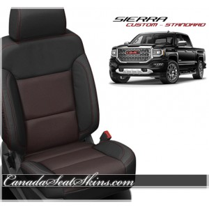2014 - 2015 Silverado Lt Grey and Black Custom Leather Seats