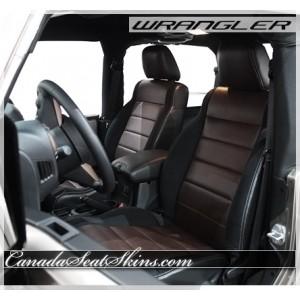 2007 - 2012 Jeep Wrangler Black with Espresso